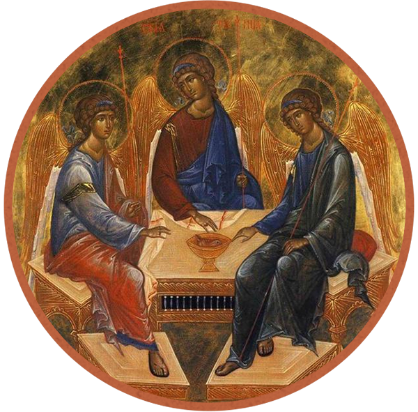 Miniature depiction of Andrei Rublev Trinity, Wiki Commons